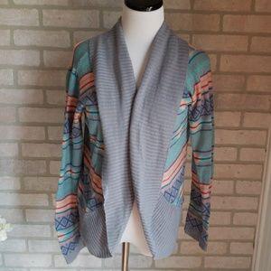 Rue 21 Tribal Open Sweater Size XL
